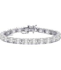 genevive cubic zirconia bracelet in silver at nordstrom