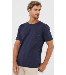 camiseta colombo bolso azul-marinho - azul marinho - masculino - algodã£o - dafiti