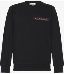 alexander mcqueen selvedge sweatshirt with logo detail