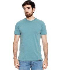 camiseta cuello redondo con aberturas en costados color blue
