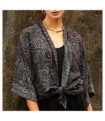 batik jacket, 'javanese dove' (indonesia)