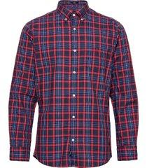 d2. tp oxford micro tartan reg bd skjorta casual röd gant