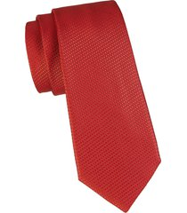 canali men's tonal print silk tie - red