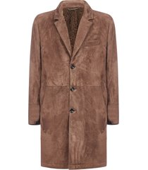 ajmone suede and shearling coat