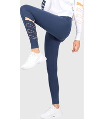 calza azul puma rebel leggings