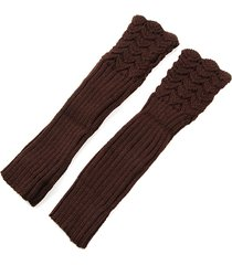 autumn winter hollow out crochet fingerless mittens knitting long arm warmer guanti