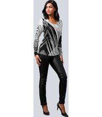 byxor, skinn framtill och jerseybaktill alba moda svart