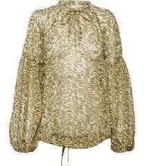 rileykb blouse blouse lange mouwen groen karen by simonsen