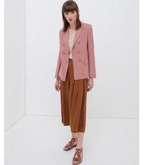 pantaloni cropped con pieghe