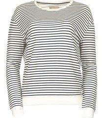 gestreepte sweater albany  wit