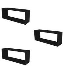 conjunto com 3 nichos bim preto