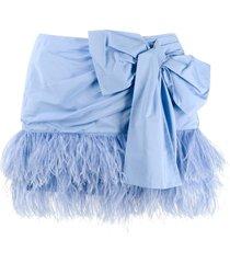 nº21 bow mini skirt - blue