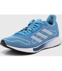 zapatilla azul adidas galaxar run w