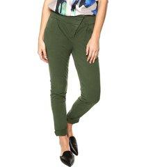 pantalón violette color siete para mujer  - verde