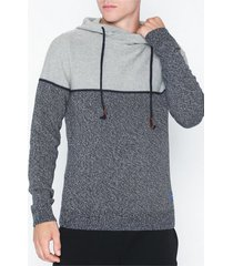 jack & jones jorbrayson knit hood sts tröjor ljus grå