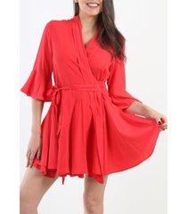 vestido marilyn cruzado rojo night concept