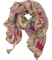 etro silk shawl with floral paisley print