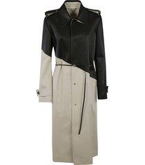 bottega veneta laced belt buttoned authentic coat