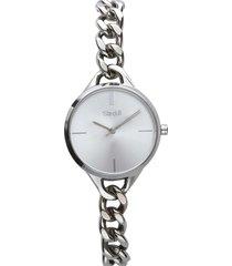 dubai orologio in acciaio silver con quadrante silver per donna
