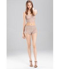 sashay tap shorts, women's, brown, size l, josie natori