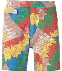 amir slama cocar francês tactel swim shorts - multicolour