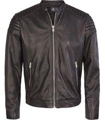 solid jacket stone black