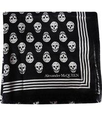 alexander mcqueen black modal biker scarf