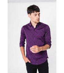 camisa violeta tascani anterre