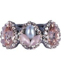 anel armazem rr bijouxmini gotas rose com pérola feminino