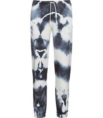 cross tie-dye sweatpants