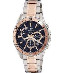 reloj casio modelo efr_552sg_2av plata/dorado hombre