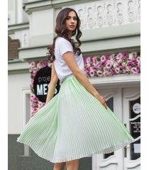 spódnica plisowana zielona