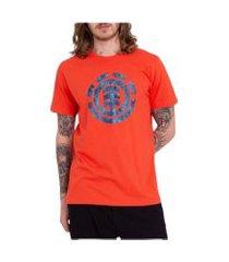 camiseta element bordo laranja incolor