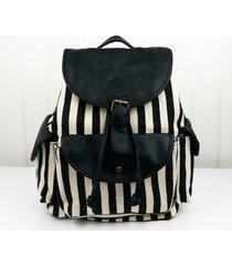 exclusive handmade vintage rucksack printing canvas white black travel backpack