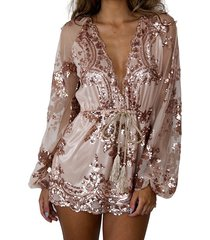 brand new australia stock sequin rosegold pink playsuit party romper