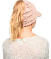 angela & william messy bun ponytail beanie with visor