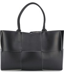 bottega veneta arco tote bag - black