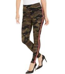 inc camo-print tuxedo stripe leggings, created for macy's