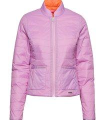 reversible light padded jacket zomerjas dunne jas roze ilse jacobsen