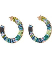 aztec fiona hoop earrings