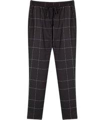 pantalón mujer cuadros color negro, talla 10