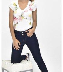 camiseta manga corta flor