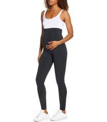 women's girlfriend collective high waist full length maternity leggings, size 3x-large - black