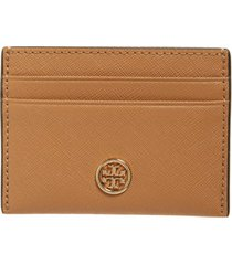 women's tory burch robinson leather card case -