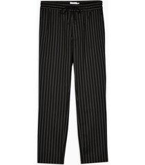 mens black and white stripe stripe skinny pants