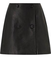 skinnkjol slfalberte mw leather skirt