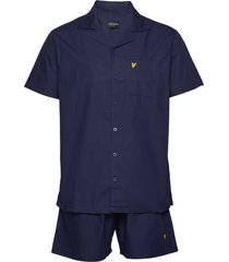 riley pyjama blauw lyle & scott