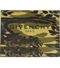 givenchy medium camouflage pouch bag - green