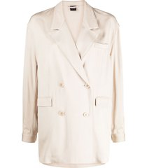 aspesi relaxed-fit double-breasted blazer - neutrals