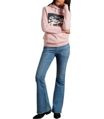 superdry women's organic cotton original pastel hoodie